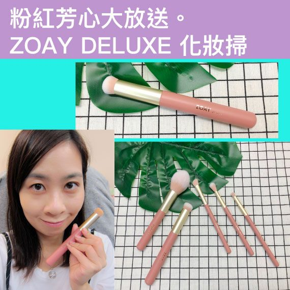 【 博客主場 】粉紅芳心大放送。ZOAY DELUXE 化妝掃 By Cherry